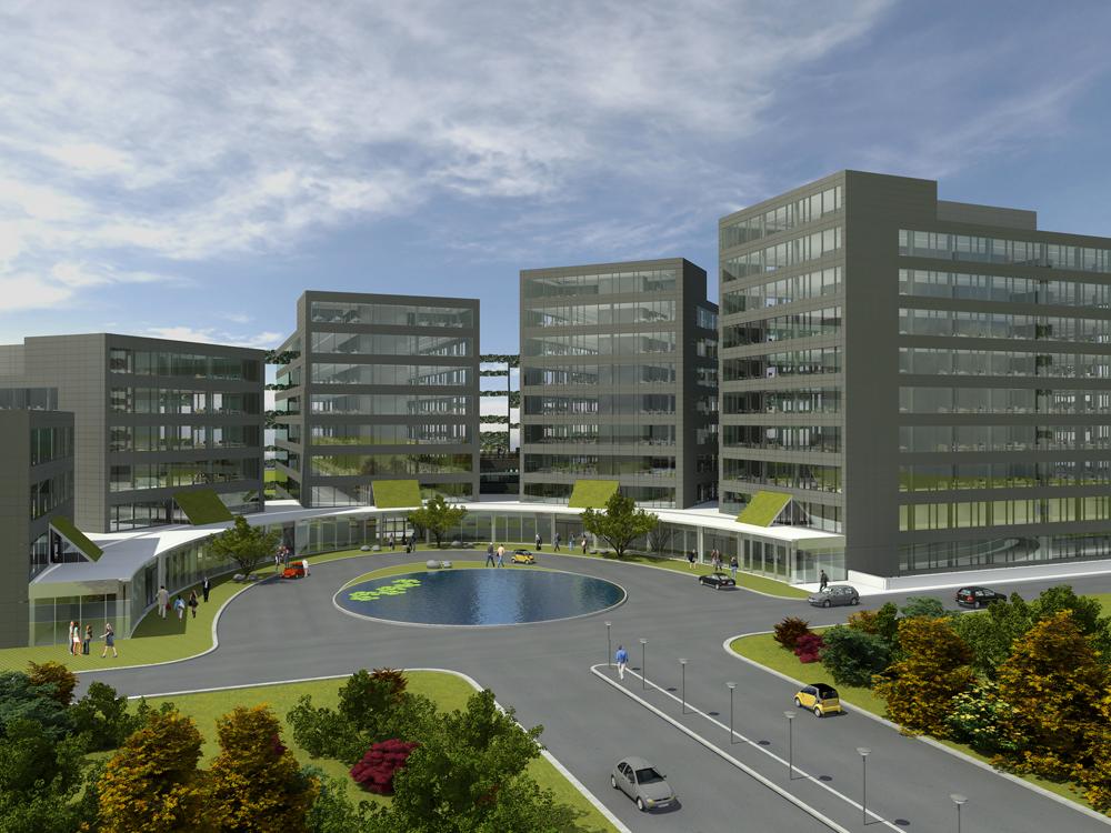 Airport plaza studiebureau van reeth for Exterieur jour